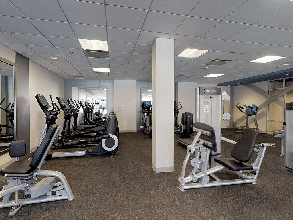 A Variety of Equipment in Our State of the Art Fitness Gym at Trillium Apartments in Fairfax, VA
