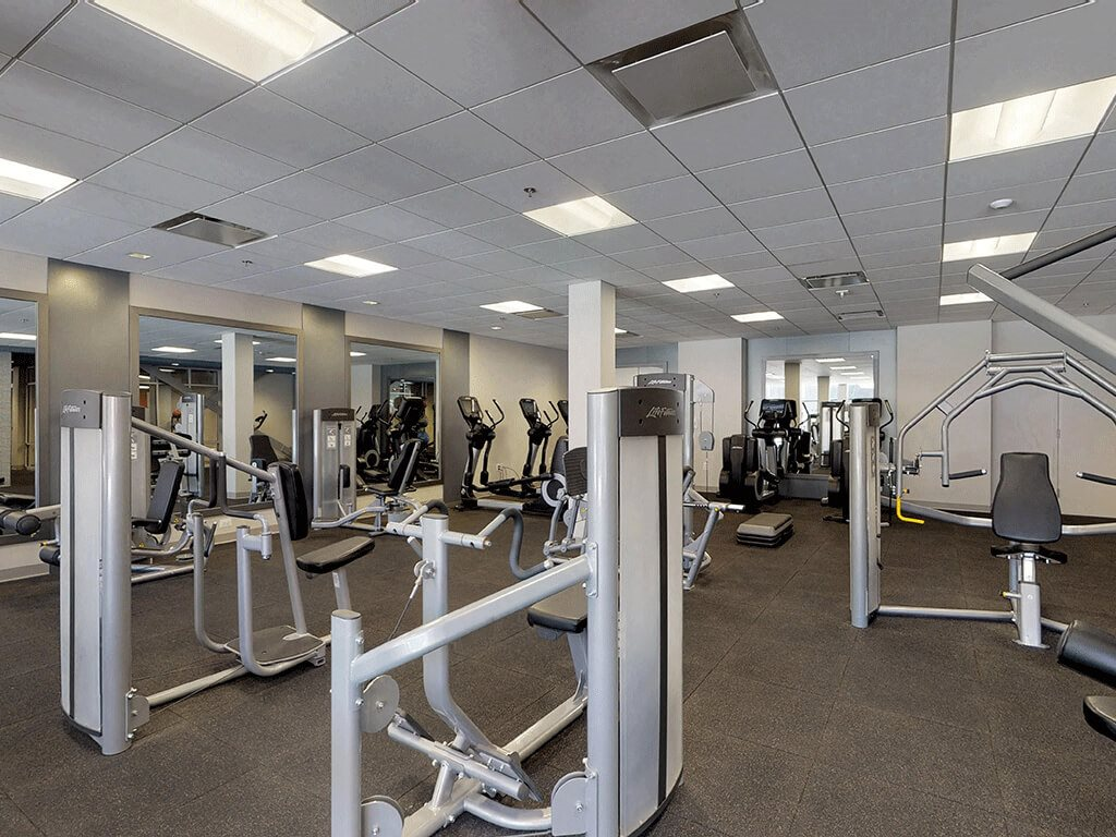 Diverse equipment in this stunning fitness facility