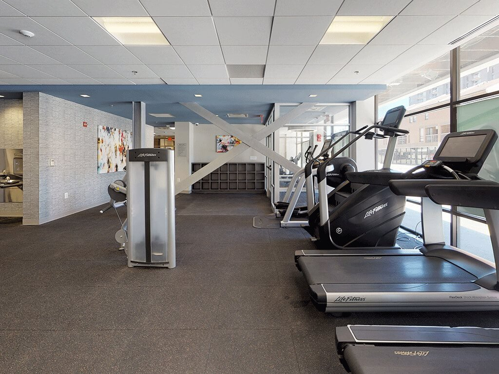 Cardio Equipment in the State-of-the-art Fitness Gym at Trillium Apartments in Fairfax, VA