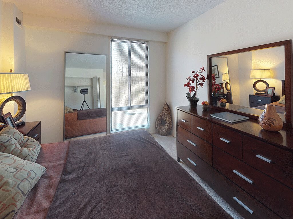 CLASSIC Bright Bedroom with Floor to Ceiling Windows at Trillium Apartments in Fairfax, VA