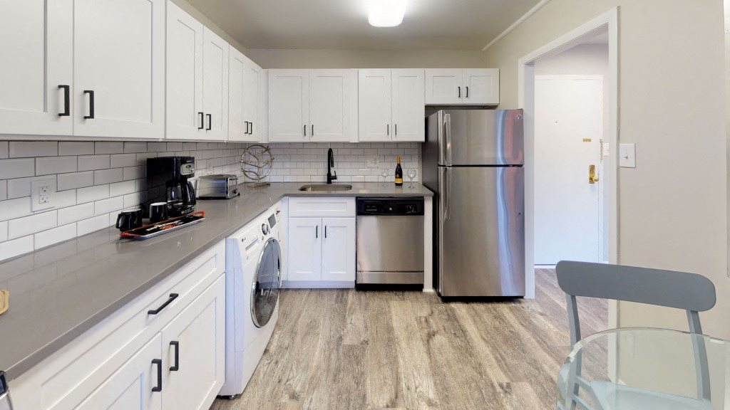 PLATINUM Upgraded Kitchen With Stainless Steel Appliances at Trillium Apartments in Fairfax, VA