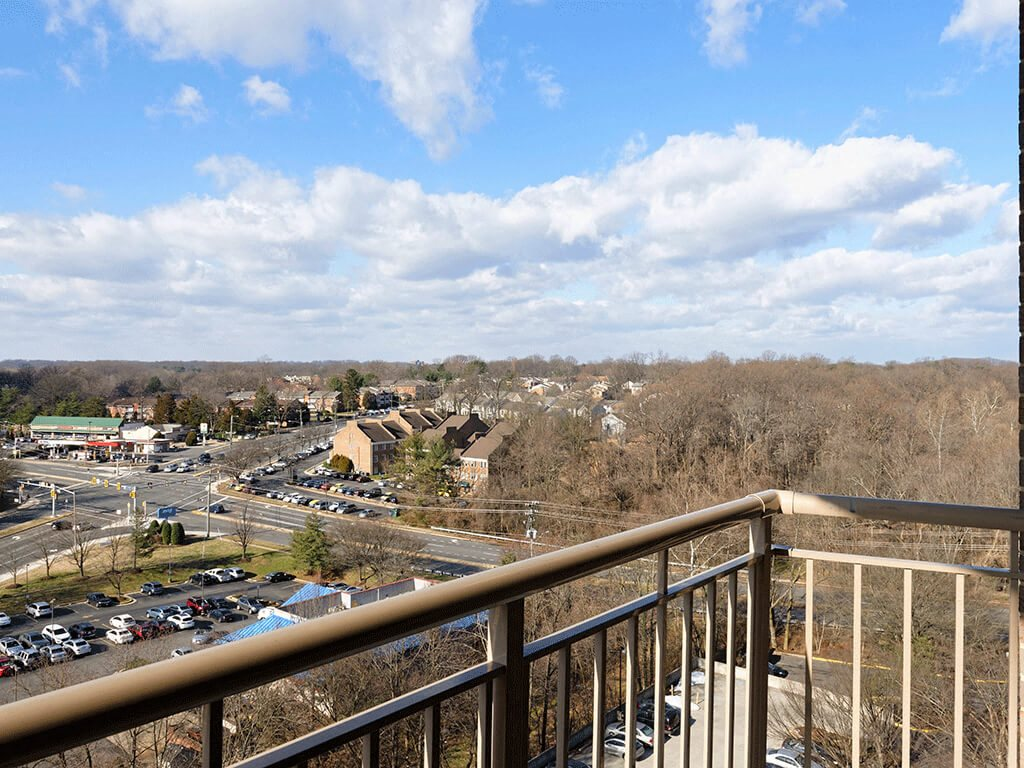 Gorgeous Fairfax, VA Views from the Balcony at Trillium Apartments in Fairfax, VA