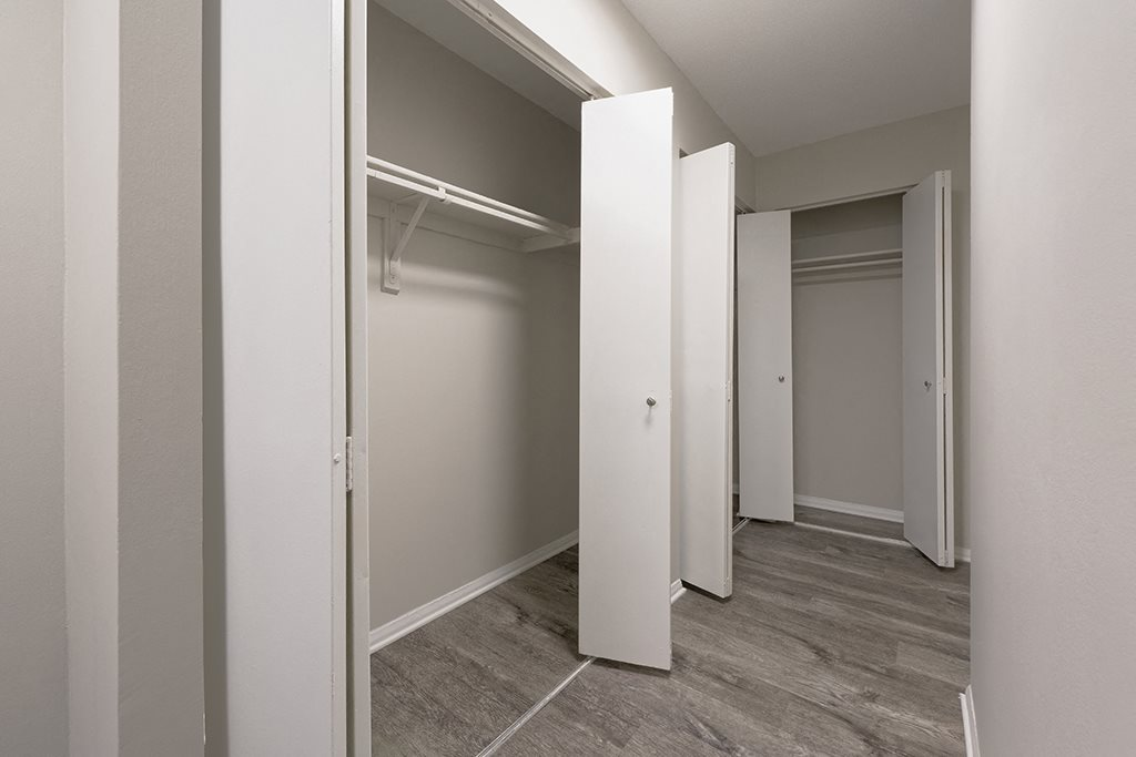 Plenty of storage space in hallways at Circle Towers in Fairfax, VA