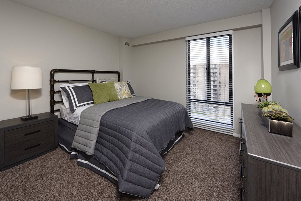 PLATINUM Upgrade Spacious Bedroom with Plush Carpeting at Trillium Apartments in Fairfax, VA