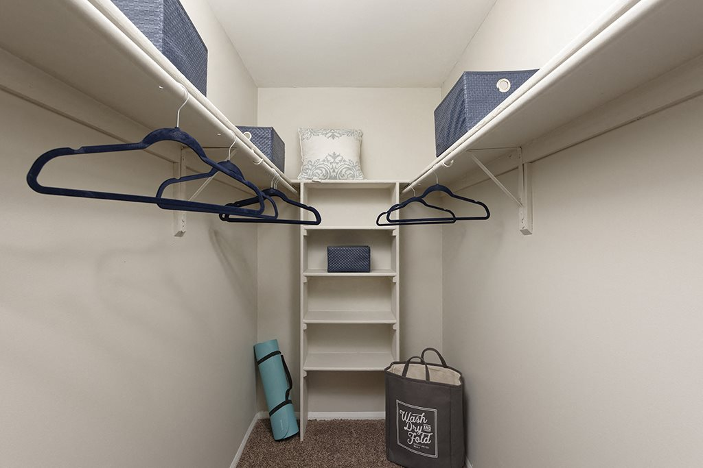 Platinum Upgraded Spacious Walk in Closet at Trillium Apartments in Fairfax, VA