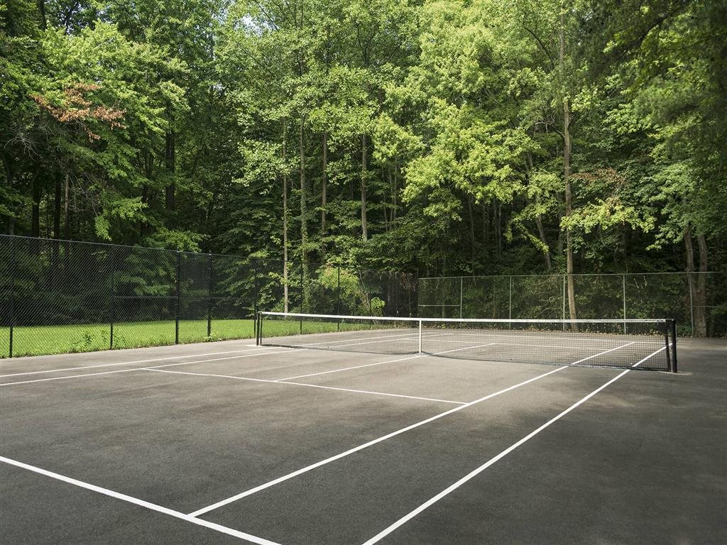 Tennis Court by the Towers Park at Trillium Apartments in Fairfax, VA