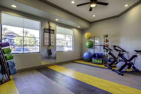 Henderson Apartments - Tesoro Ranch Fitness Center with State of the Art Cardio Equipment, Treadmills, and Weights