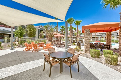 Covered Outdoor Communal Dining Area