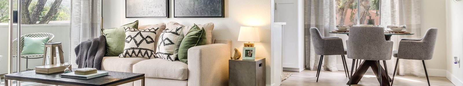 Living room and Dinning room - Model at Hills of Diamond Bar, Diamond Bar