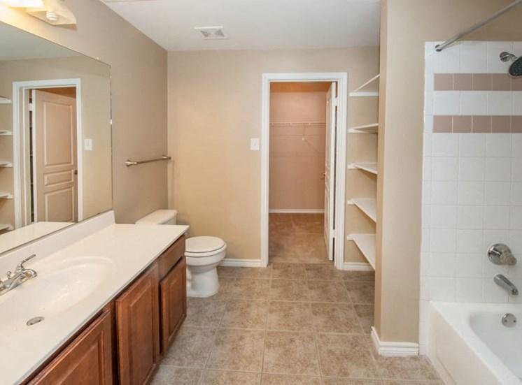 Apartment home bathroom