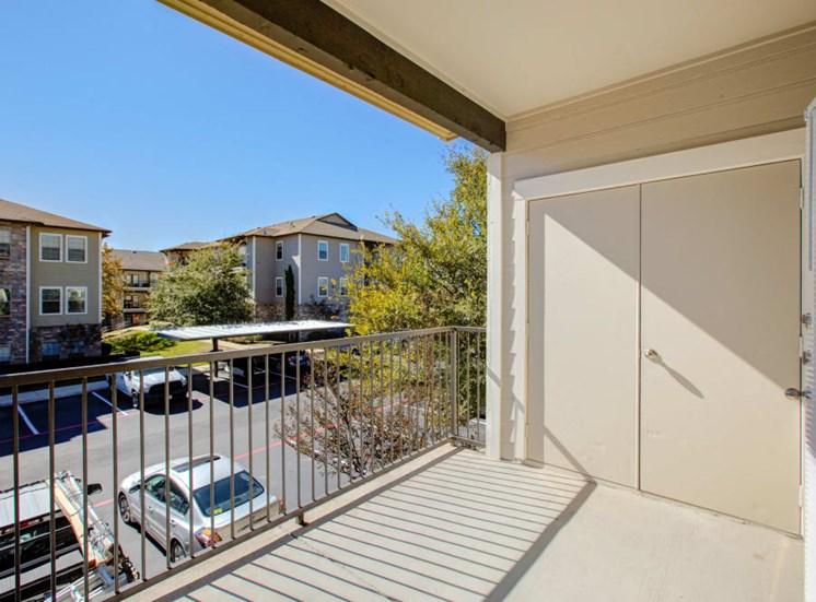 Vacant apartment exterior balcony