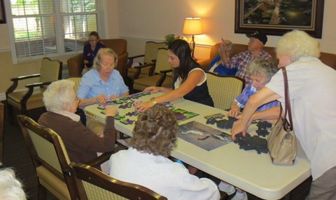 Seniors Playing at Savannah Court & Cottage of Oviedo, Oviedo, 32765