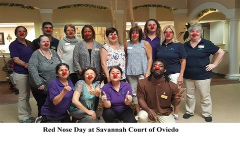 Red Nose Day at Savannah Court & Cottage of Oviedo, Oviedo, Florida