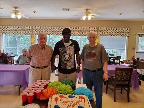 Happy Senior Resident at Savannah Court of Bastrop, Bastrop, Louisiana
