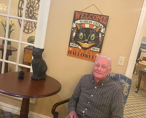 Happy Senior Resident at Savannah Court of Bastrop, Bastrop, 71220