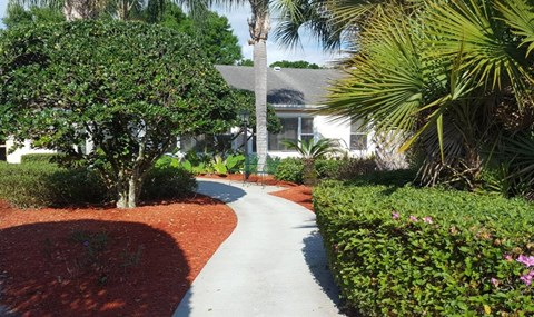 Courtyard Walking Space at Savannah Court of Brandon, Florida