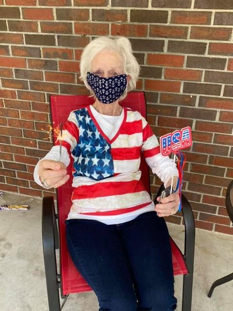 Happy Senior Resident at Savannah Court of Camilla, Camilla, Georgia