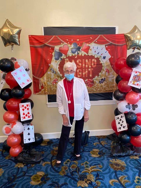 Seniors Celebrating Casino Night at Savannah Court of Camilla, Camilla
