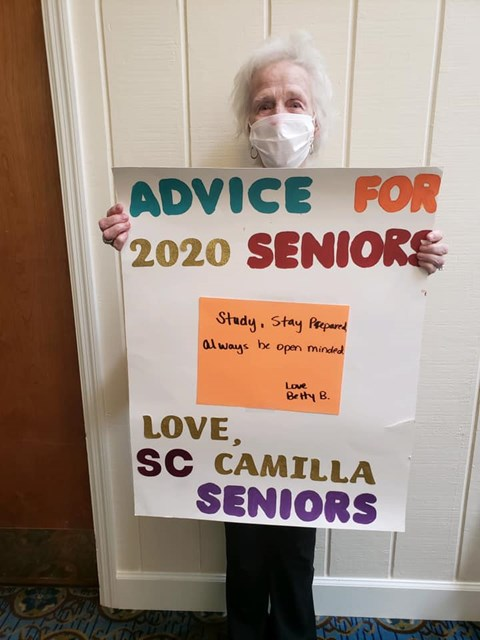 Advice For 2020 Seniors at Savannah Court of Camilla, Camilla