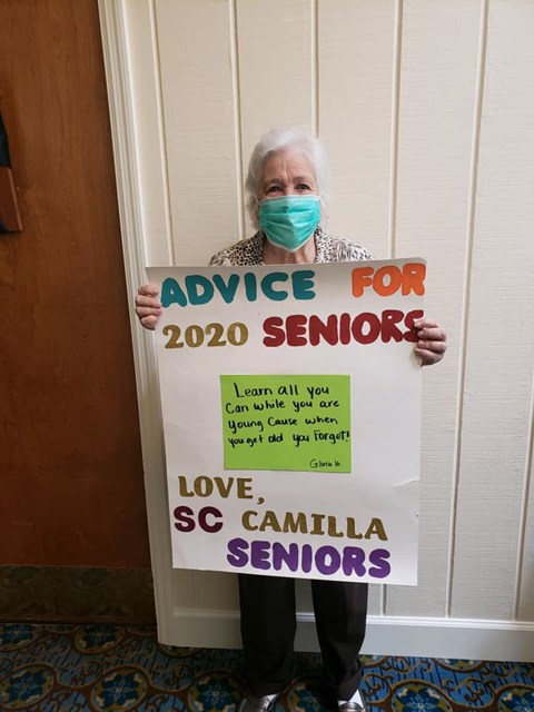 Advice For 2020 Seniors at Savannah Court of Camilla, Georgia