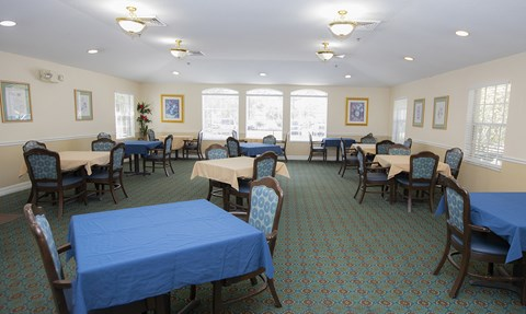 Dining Hall at Savannah Court of Haines City, Haines City, FL