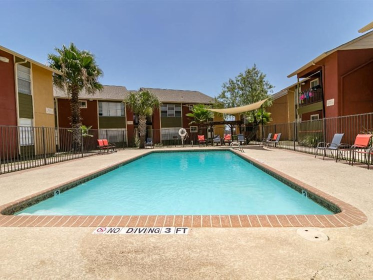 Two Sparkling Swimming Pools at City-Base Vista, San Antonio, TX, 78223