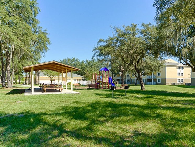 outdoor gazebo and playground_Cypress Oaks Apartments Leesburg, FL