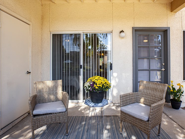 Private patios and balconies offered