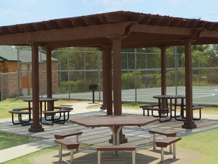 Gazebos with Picnic Tables & Grills