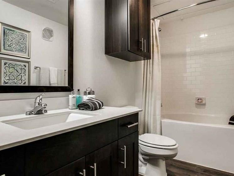 Undermount Rectangular Sink in Bathroom