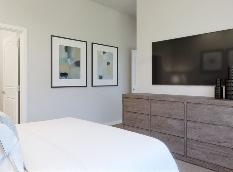 Comfortable Bedroom With Television at Rise at 2534, Johnstown