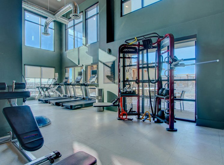 Fully Equipped Fitness Center at Rise at 2534, Johnstown, CO, 80534