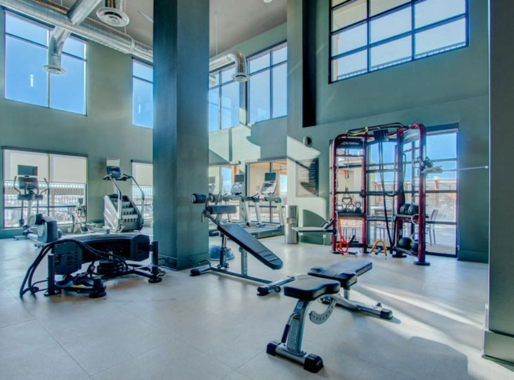 Fitness Center With Updated Equipment at Rise at 2534, Johnstown, CO