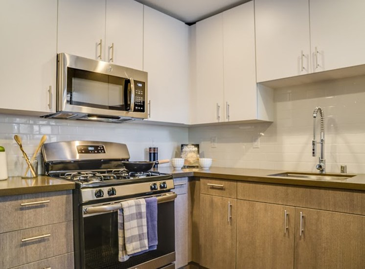 All Electric Kitchen at Solterra at Civic Center, California, 90650