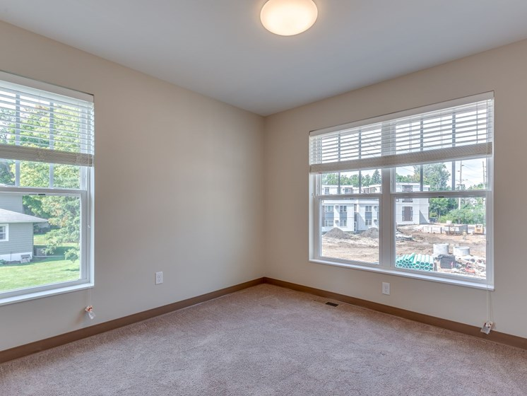 Corner of Bedroom With Windows