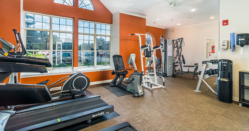 Fully Equipped Fitness Center at Axis at Westmont, Westmont, Illinois