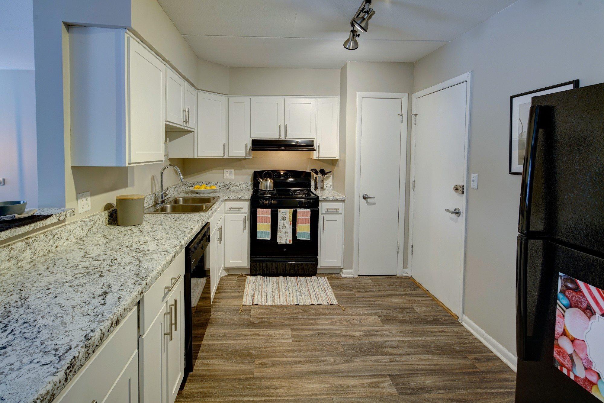 White Shaker Style Cabinetry at Axis at Westmont, Illinois