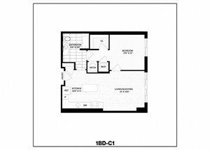 1 Bed/1 Bath-C1