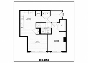 1 Bed/1 Bath-QAD