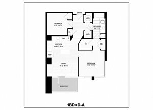 1 Bed/1 Bath Den-A