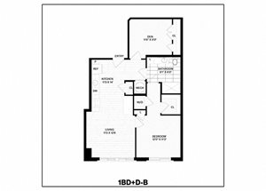 1 Bed/1 Bath Den-B