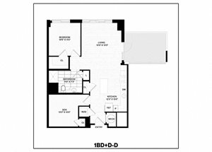 1 Bed/1 Bath Den-D
