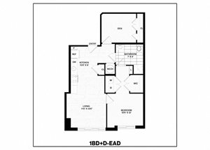 1 Bed/1 Bath Den-EAD