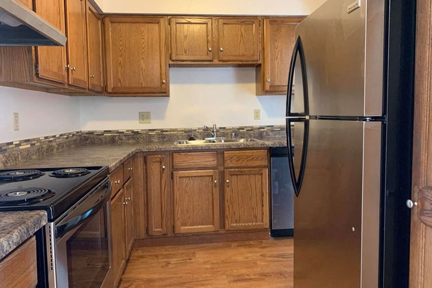 Kitchen at Heather Downs Apartments in Madison, Wisconsin