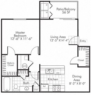 Villa Serena Apartments Floor Plan A1 Henderson, Nevada