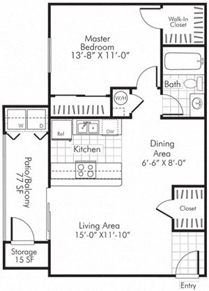 Villa Serena Apartments Floor Plan A2 Henderson, Nevada