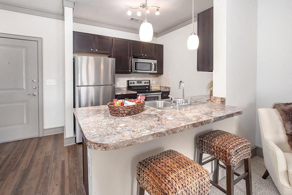 Kitchen at Atria Apartments in Tulsa, OK