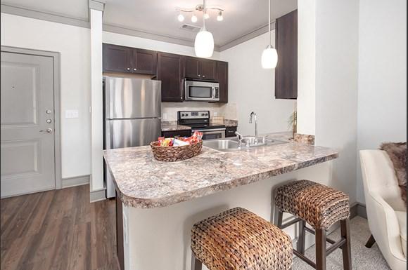Kitchen At Atria Apartments In Tulsa Ok