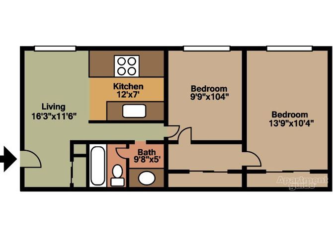 TWO BEDROOM - GOLDEN ARMS