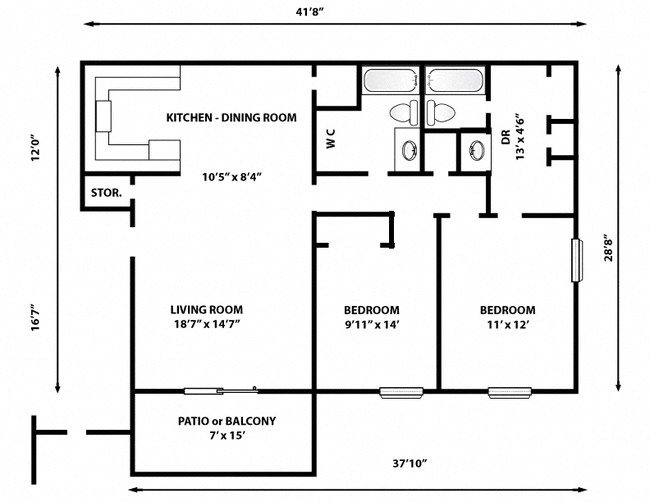 Floor Plans Of Carriage Place  Unit M8 In Columbia  Sc